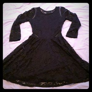 Abercrombie and Fitch black lace dress